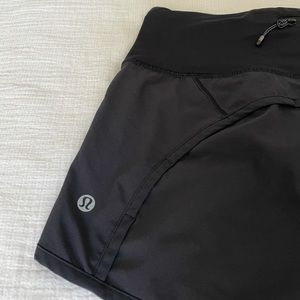 Lululemon Run Times/Speedup Short, Black, Size 4